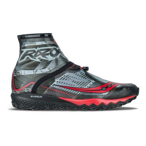 Mens Saucony Razor Ice+ Running Shoe - Black/White/Red 7.5