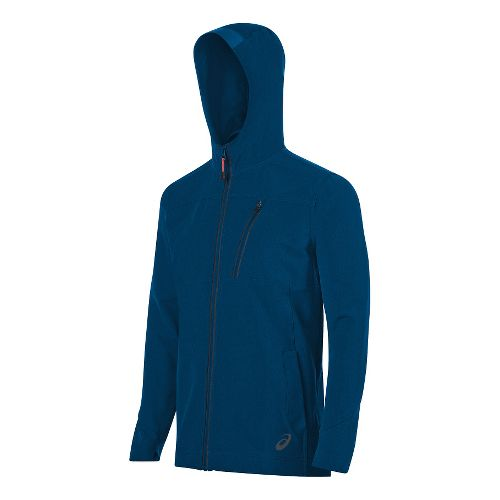 Mens ASICS Melange Jacket Hoodie & Sweatshirts Technical Tops - Blue S