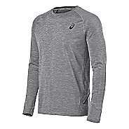 Mens ASICS Mesh Crew Long Sleeve Technical Tops