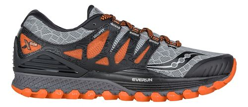 Mens Saucony Xodus ISO Trail Running Shoe - Grey/Orange/Black 9.5