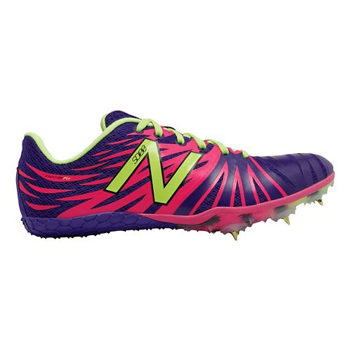 Womens New Balance SD100v1 Track and Field Shoe - Purple/Pink 10.5