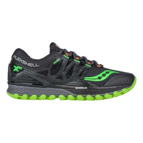 Mens Saucony Xodus ISO Runshield Trail Running Shoe - Black/Slime/Orange 13