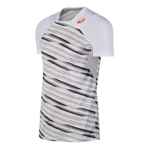 Mens ASICS Athlete Short Sleeve Technical Tops - White XL