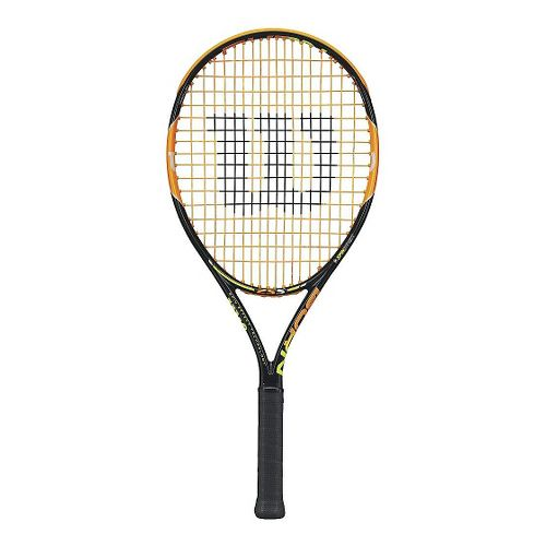 Kids Wilson BURN 25in Tennis Racquet Fitness Equipment - Black/Orange