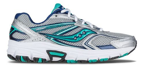 Womens Saucony Cohesion  9 Running Shoe - Silver/Navy/Teal 8.5
