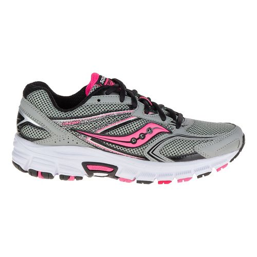Womens Saucony Cohesion  9 Running Shoe - Grey/Black/Pink 5