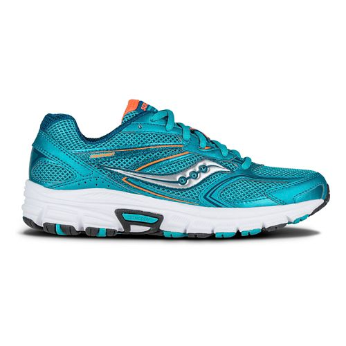 Womens Saucony Cohesion  9 Running Shoe - Teal/Orange 5