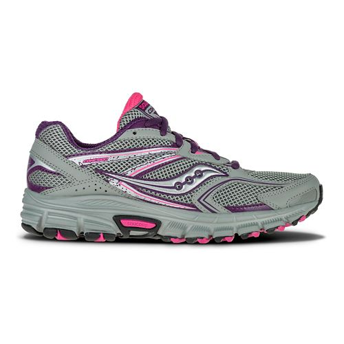 Womens Saucony Cohesion TR9 Trail Running Shoe - Grey/Berry/Aqua 5