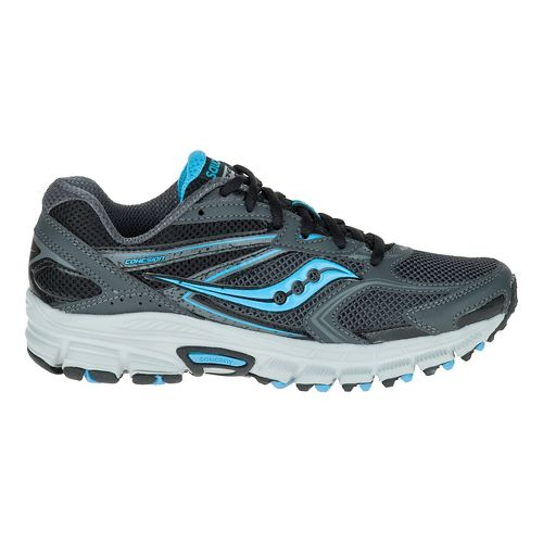 Womens Saucony Cohesion TR9 Trail Running Shoe - Grey/Black/Aqua 7