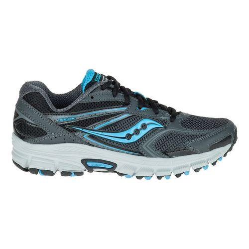 Womens Saucony Cohesion TR9 Trail Running Shoe - Grey/Black/Aqua 9