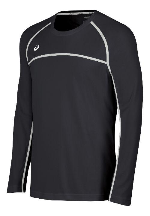 Mens ASICS Conform Long Sleeve Technical Tops - Grey/White XL