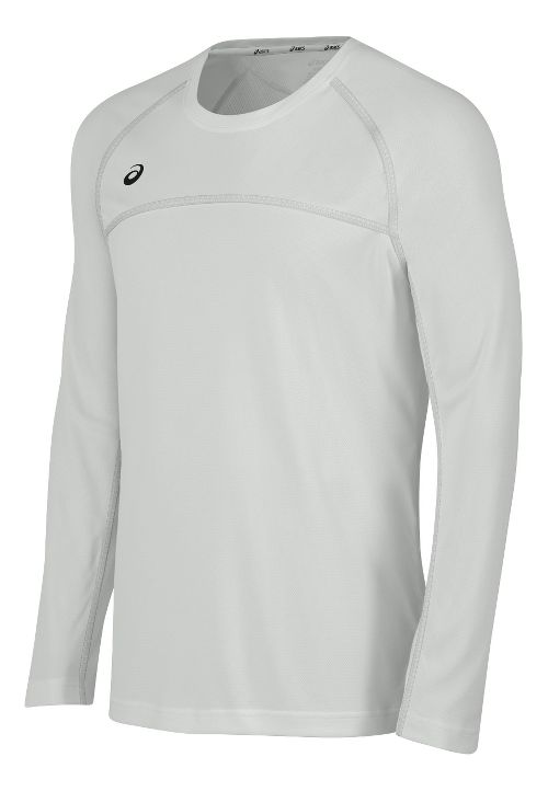 Mens ASICS Conform Long Sleeve Technical Tops - White S