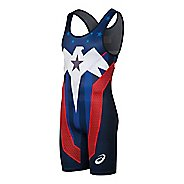 Mens ASICS Lightning Strike Singlet Wrestling Suits UniSuits