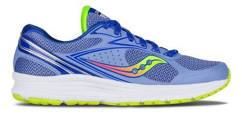 Womens Saucony Seeker Running Shoe - Blue/Coral/Citron 5