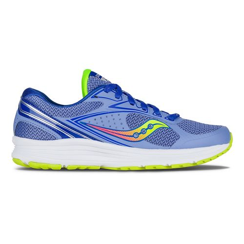 Womens Saucony Seeker Running Shoe - Blue/Coral/Citron 7.5