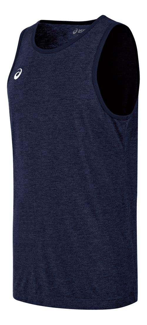 Mens ASICS TM Tech Sleeveless & Tank Technical Tops - Navy Heather L
