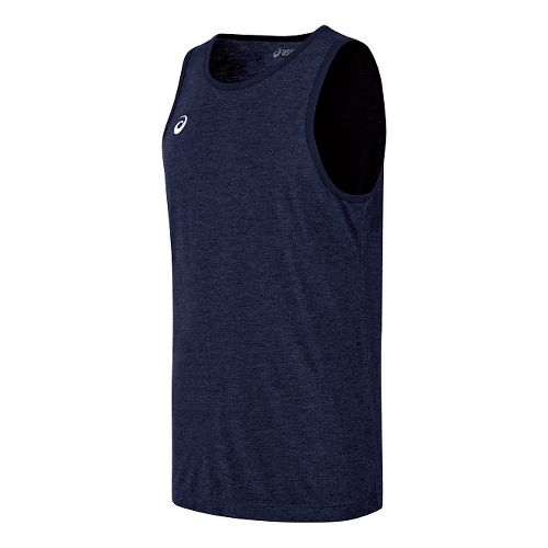 Mens ASICS TM Tech Sleeveless & Tank Technical Tops - Navy Heather XXL