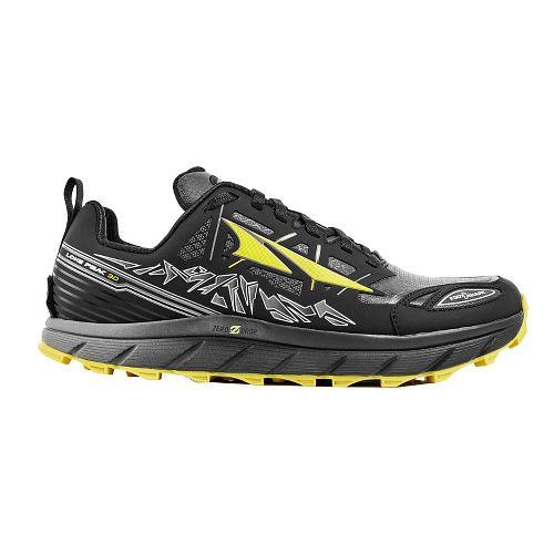 Mens Altra Lone Peak 3 Polartec NeoShell Trail Running Shoe - Black/Yellow 7