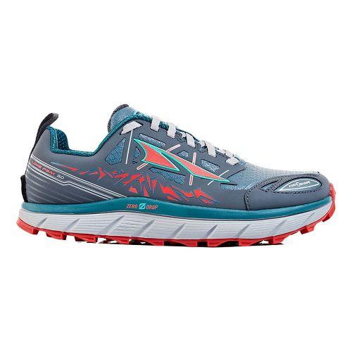 Womens Altra Lone Peak 3 Polartec NeoShell Trail Running Shoe - Grey/Blue 10.5