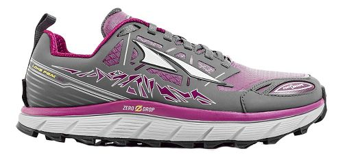 Womens Altra Lone Peak 3 Polartec NeoShell Trail Running Shoe - Grey/Purple 5.5