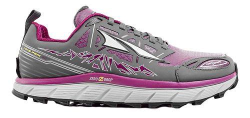 Womens Altra Lone Peak 3 Polartec NeoShell Trail Running Shoe - Grey/Purple 7