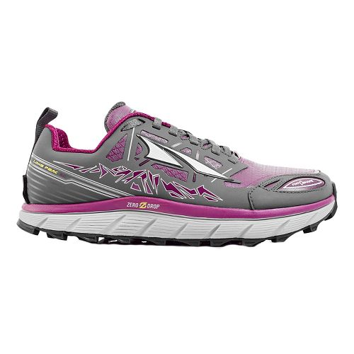 Womens Altra Lone Peak 3 Polartec NeoShell Trail Running Shoe - Grey/Purple 8.5