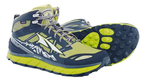Mens Altra Lone Peak 3 Mid Polartec NeoShell Trail Running Shoe - Lime 10.5