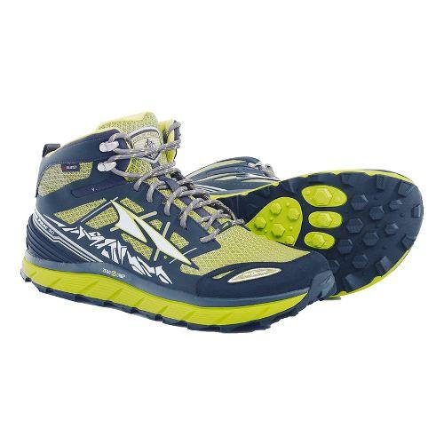 Mens Altra Lone Peak 3 Mid Polartec NeoShell Trail Running Shoe - Lime 10