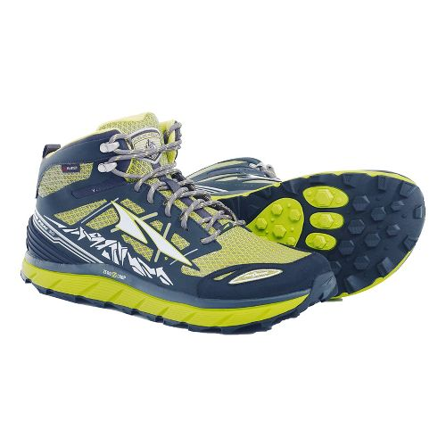 Mens Altra Lone Peak 3 Mid Polartec NeoShell Trail Running Shoe - Lime 10.5