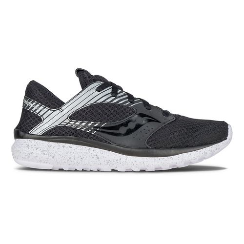 Womens Saucony Kineta Relay Reflex Casual Shoe - Black/Silver 9.5