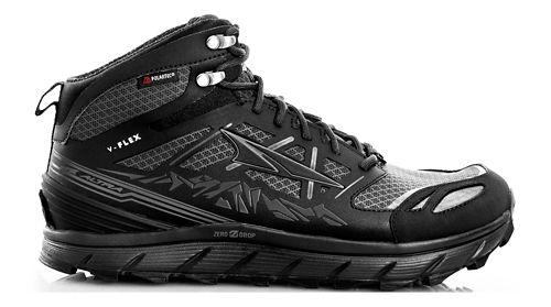 Womens Altra Lone Peak 3 Mid Polartec NeoShell Trail Running Shoe - Black 10