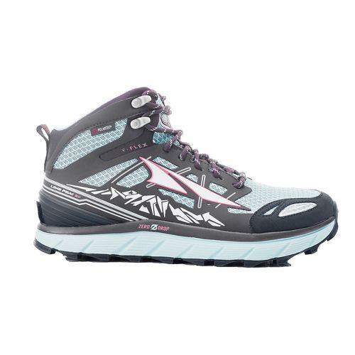 Womens Altra Lone Peak 3 Mid Polartec NeoShell Trail Running Shoe - Blue 5.5