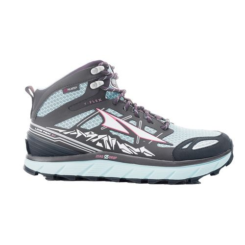 Womens Altra Lone Peak 3 Mid Polartec NeoShell Trail Running Shoe - Blue 6