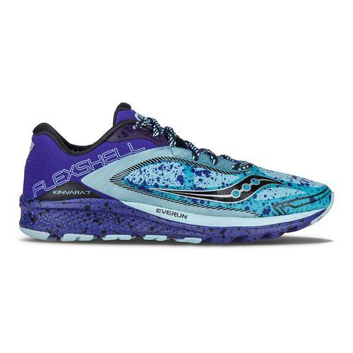 Womens Saucony Kinvara 7 Runshield Running Shoe - Sky/Blue/Silver 10.5
