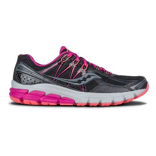 Womens Saucony Lancer 2 Running Shoe - Black/Berry/Coral 10