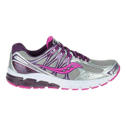 Womens Saucony Lancer 2 Running Shoe - Silver/Grape/Fuchsia 10