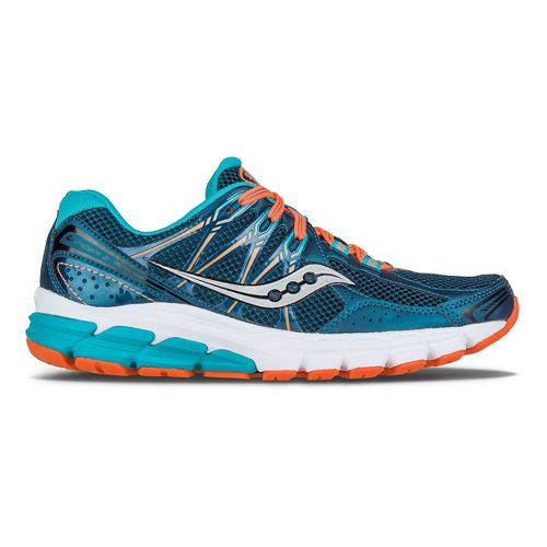 Womens Saucony Lancer 2 Running Shoe - Teal/Orange 5.5