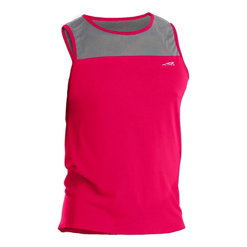 Mens Altra Performance Tanks Technical Tops - Red XL
