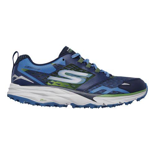 Mens Skechers GO Trail  Running Shoe - Navy/Green 13