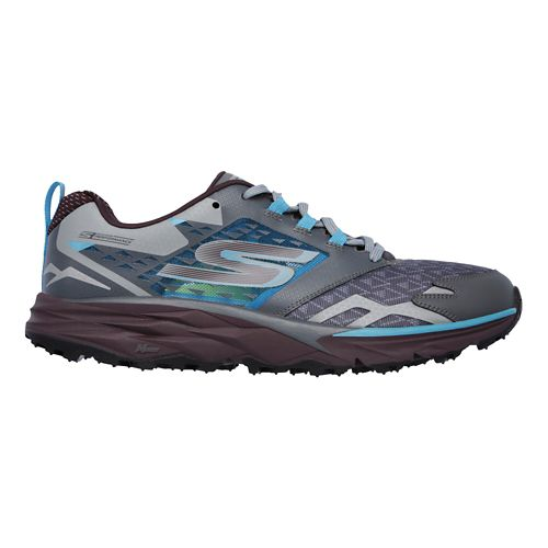 Mens Skechers GO Trail  Running Shoe - Charcoal/Multi 9