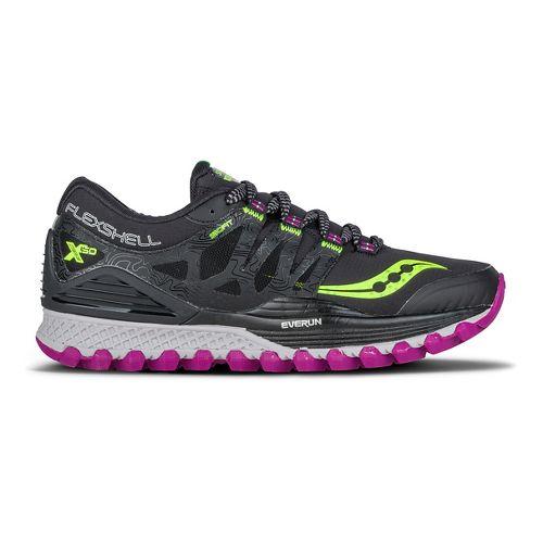 Womens Saucony Xodus ISO Runshield Running Shoe - Black/Citron/Berry 6.5