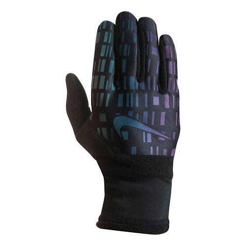 Mens Nike Vapor Flash Run Glove 3.0 Handwear - Black/Iridescent L