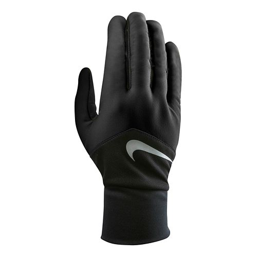 Womens Nike Dri-FIT Tempo Run Gloves Handwear - Black/Black M