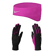 Womens Nike Dri-FIT Running Headband/Glove Set Headwear