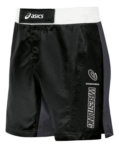 Mens ASICS Feud Wrestling Compression & Fitted Shorts - Black/Grey 34
