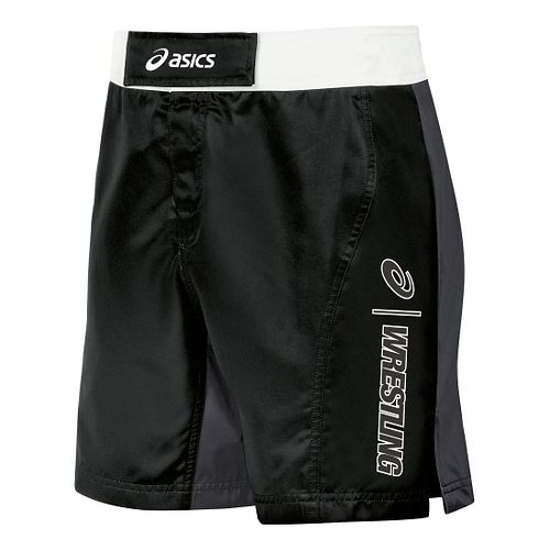 Mens ASICS Feud Wrestling Compression & Fitted Shorts - Black/Grey 40