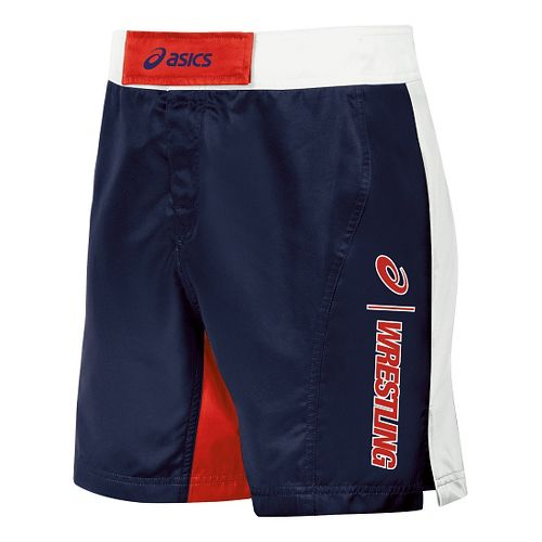 Mens ASICS Feud Wrestling Compression & Fitted Shorts - Navy/Red 28