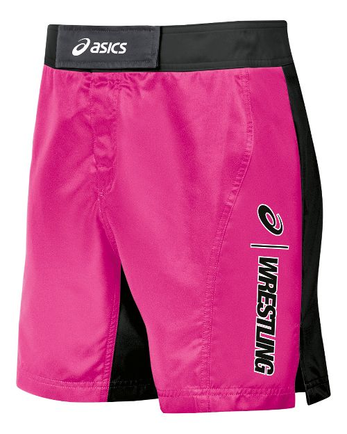 Mens ASICS Feud Wrestling Compression & Fitted Shorts - Pink/Black 34