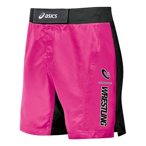 Mens ASICS Feud Wrestling Compression & Fitted Shorts - Pink/Black 34