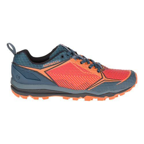 Mens Merrell All Out Crush Shield Trail Running Shoe - Merrell Orange 10